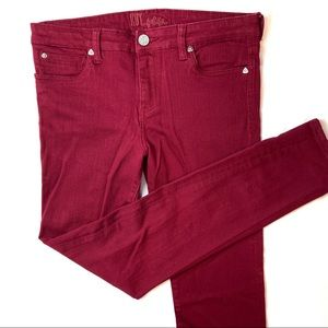 Kut from the Kloth Maroon Skinny Stretch Jeans 12
